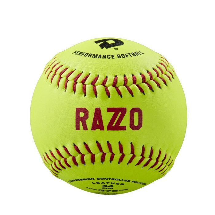 "DeMarini Razzo 11"" ASA Leather Slowpitch Softball 44-375 - One Dozen: WTDRZOL11AB"