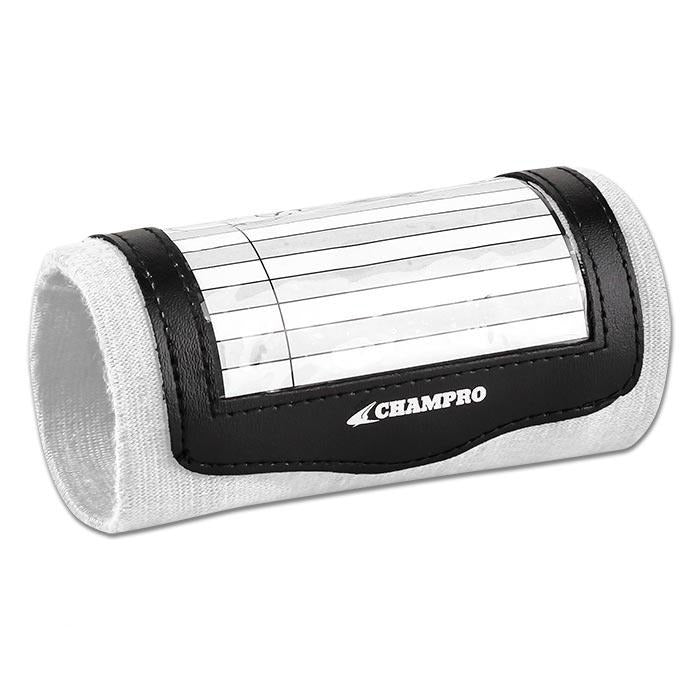 Champro Single Wristband Playbook Youth White: AF49