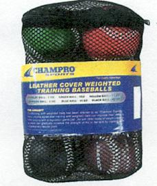 Champro Leather Weighted Baseball Training Set