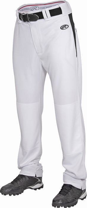 Rawlings Adult Semi-Relaxed V-Notch Plated Baseball Pants: BPVP2