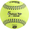 Worth Platinum Dot EXTREME Batting Practice Softballs: BPX12U
