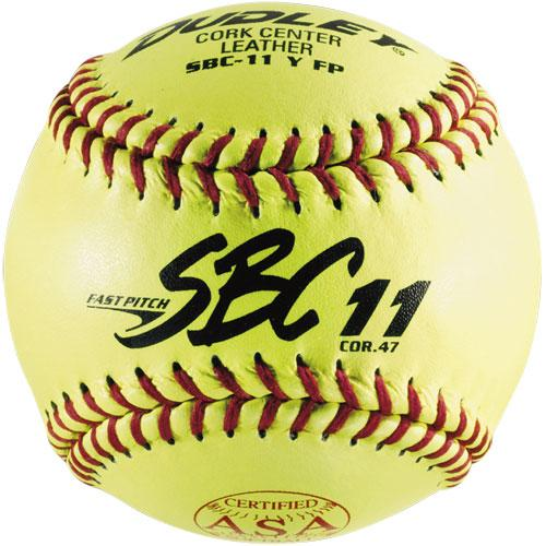 "Dudley 11"" SBC11 Leather Fastpitch Softball:  4Y611"