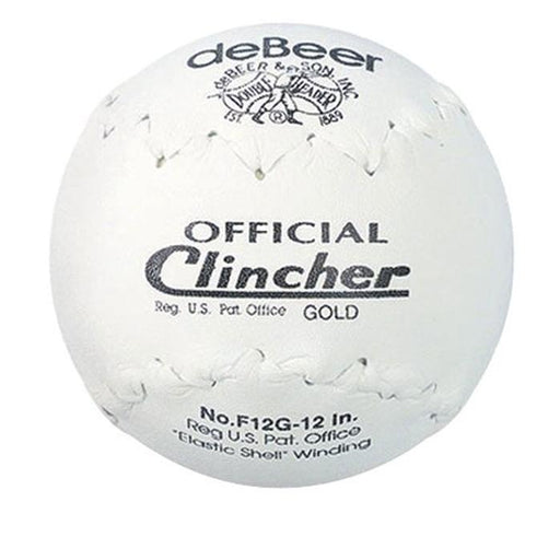 DeBeer White Clicher Gold 12 Inch Softball: F12G