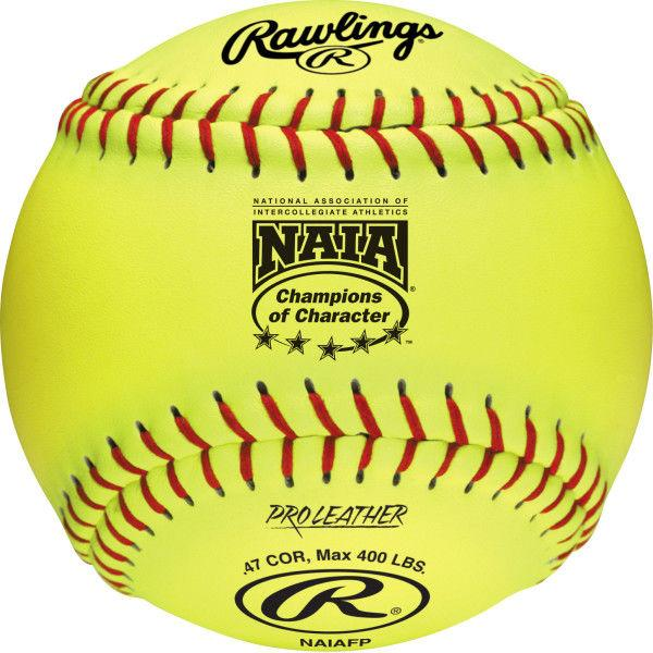 Rawlings NAIA 12 Inch Fastpitch Softball, COR: 47, Comp: 400 lbs: NAIAFP
