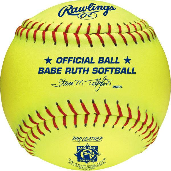 Rawlings Babe Ruth Official 12 Inch Softballs ,Poly-X Core Center: PX2RYLBR