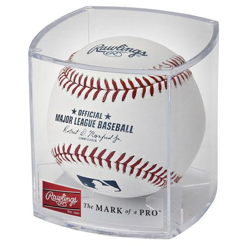 Rawlings Official MLB Baseball with Display Case: ROMLBR