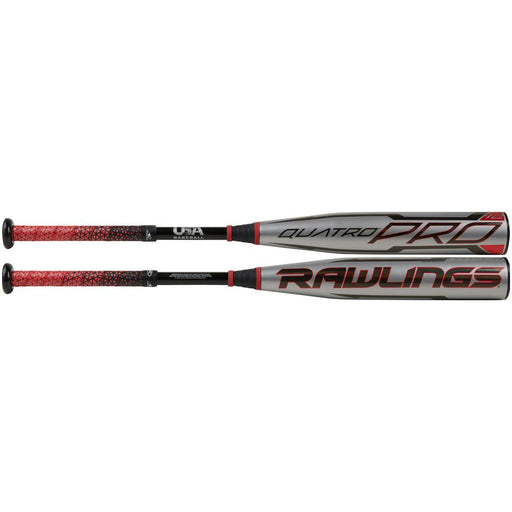 "2021 Rawlings Quatro Pro USA 2 5/8"" Youth Baseball Bat -12: US1Q12"