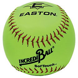 Easton Incrediball Softouch 10 Inch Yellow Training Balls