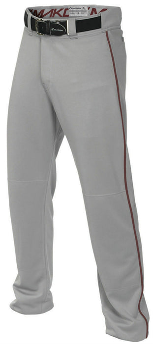 Easton Mako 2 Piped Pant Gray/Maroon 2X: A167101