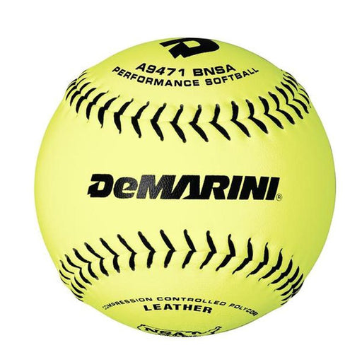 DeMarini NSA 12 Inch Leather 44/400 Slowpitch Ball: WTA9471BNSA