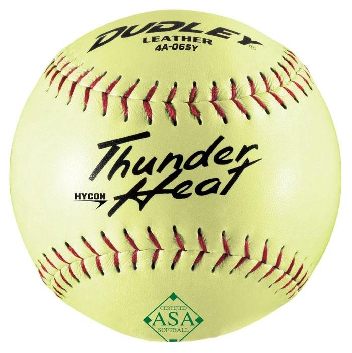 Dudley Thunder Heat Hycon -ASA- 52-300 Leather Softball 12 Inch - One Dozen: 4A065Y