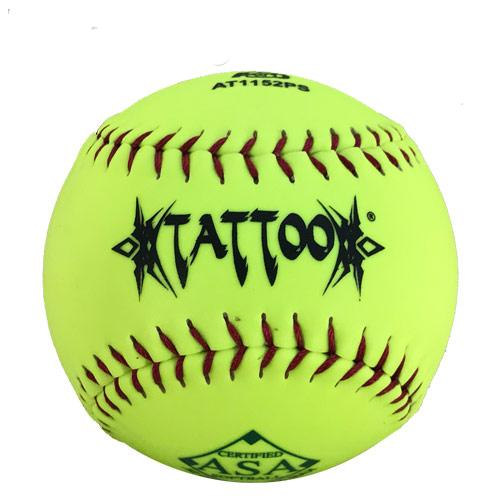 AD Starr Tattoo 52-300 11 Inch Yellow ASA Slowpitch Softball: AT1152PS