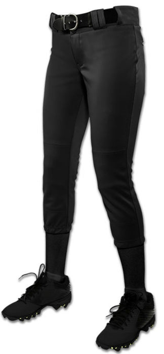 Champro Womens/Girls Tournament Low Rise Solid Pants Black Large: BP11