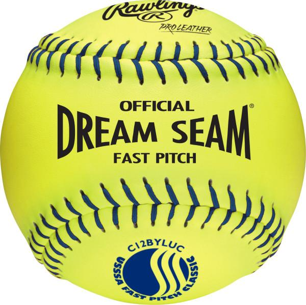 Rawlings Dream Seam Fastpitch / USSSA / Leather Ball: C12BYLUC