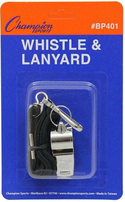 Champion Metal Whistle & Lanyard