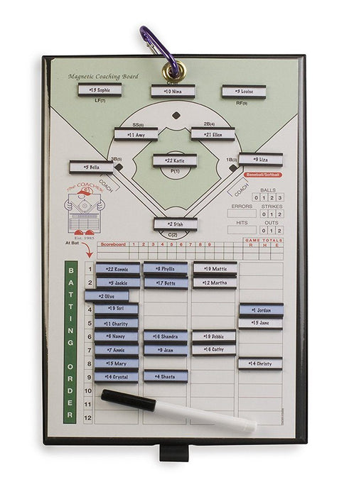 Coacher Magnetic Lineup Board 8 1-2 x 14