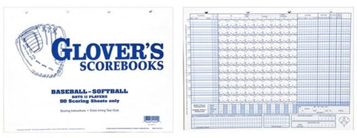 Glover Baseball-Softball 50 Scoring Sheets