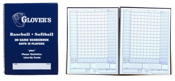Glover Large Baseball-Softball Scorebook