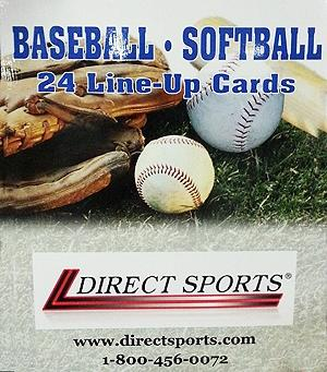 Glover Baseball-Softball Line-Up Cards