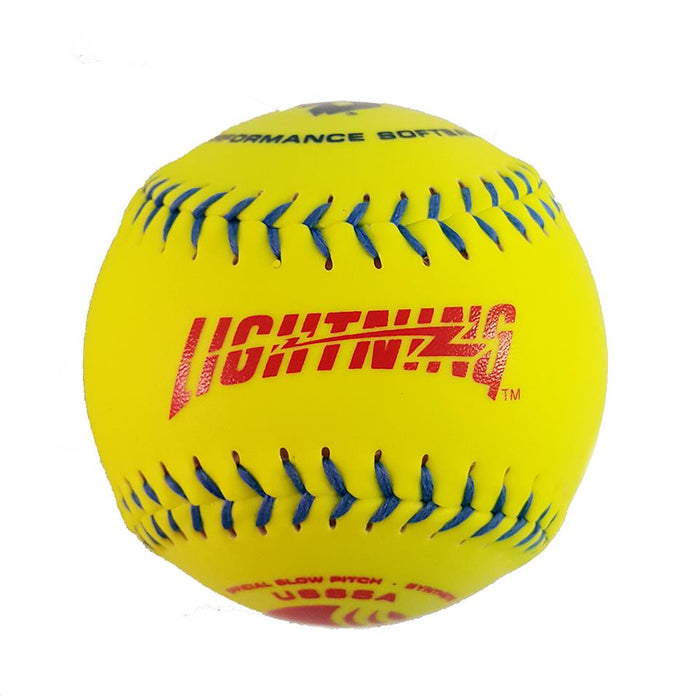 DeMarini 12 inch Lightning Synthetic USSSA Classic Plus Slowpitch Softball: LS12YUCB