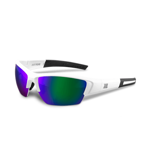 Marucci MV108 Performance Sunglasses White/Green: MSNV108