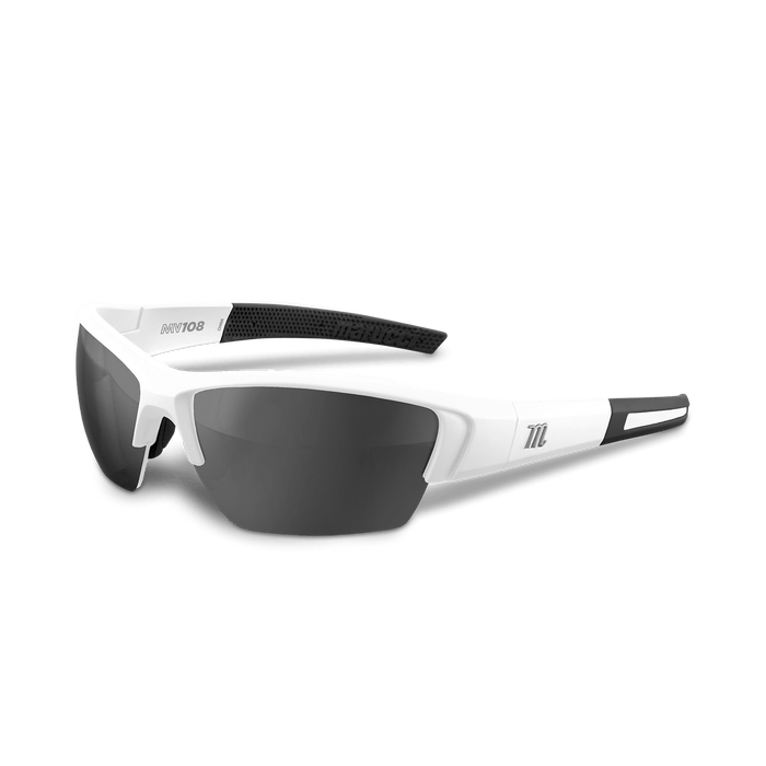 Marucci MV108 Performance Sunglasses White/Gray: MSNV108
