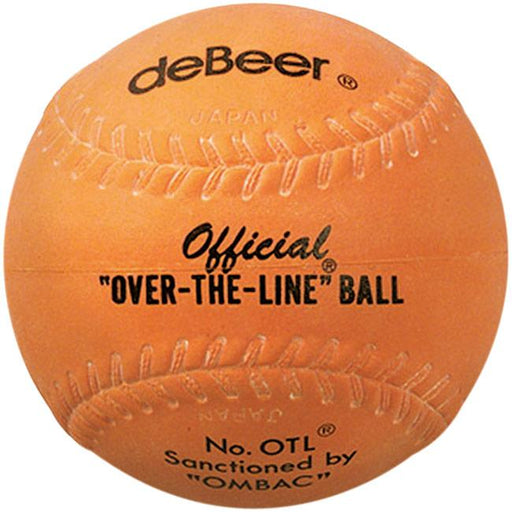 DeBeer Orange Over The Line Rubber 12 Inch Softball: OTL