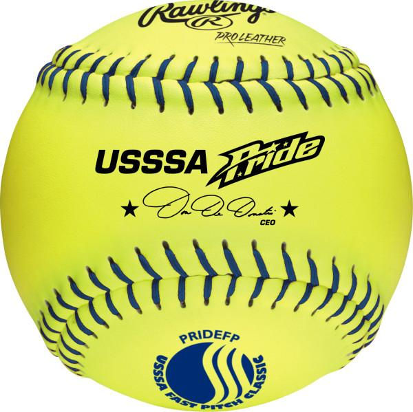 Rawlings Pride USSSA Fastpitch Leather Ball: PRIDEFP
