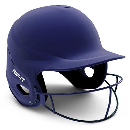 Rip-It Vision Pro Matte Softball Batting Helmet Navy S/M