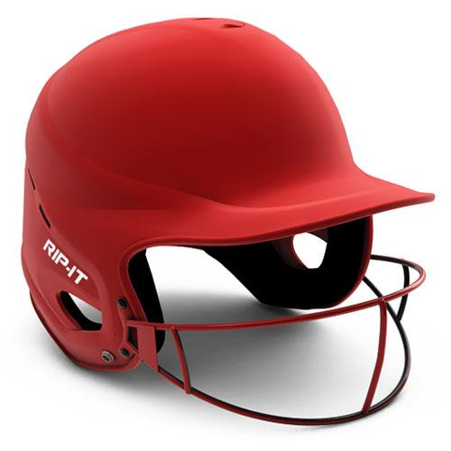 Rip-It Vision Pro Matte Softball Batting Helmet Red S/M