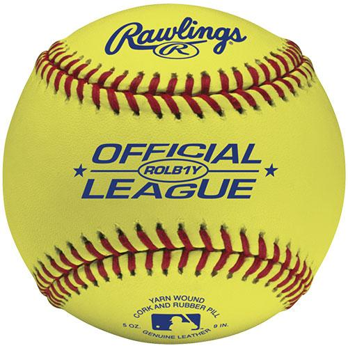 Rawlings Optic Yellow Leather Training Baseballs : ROLB1Y