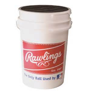 Rawlings Baseball Bucket Combo w-3 Dozen RNFC High School Game Baseballs