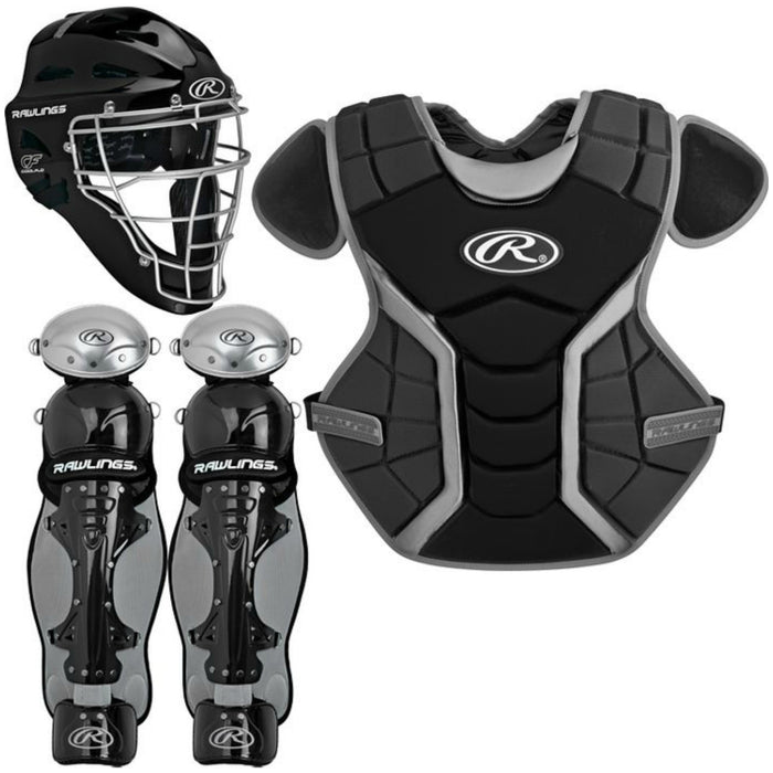 Rawlings Renegade Series Intermediate Catcher's Set Black: RCSI