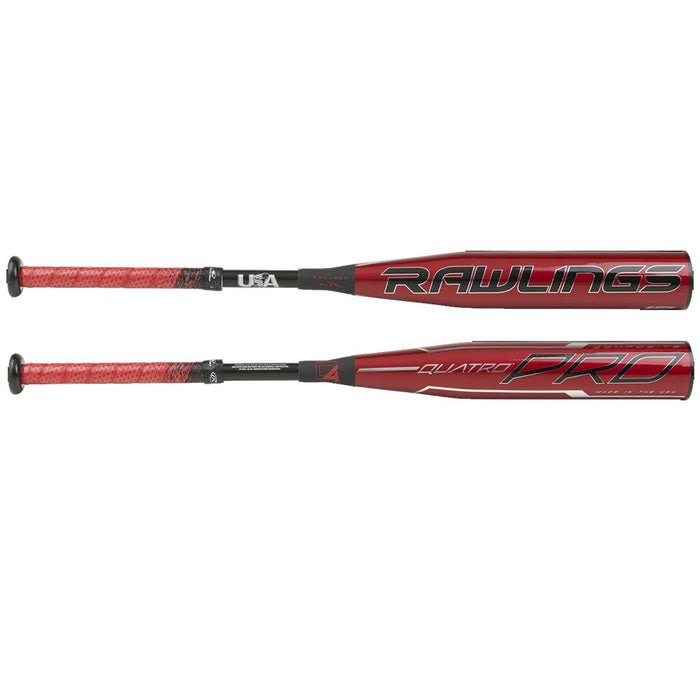 2020 Rawlings Quatro Pro USA Youth Baseball Bat -12: USZQ12