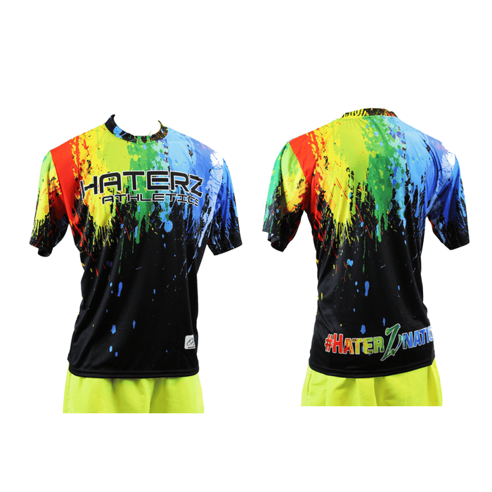 HaterZ Paint Splatter Short Sleeve Jersey: FDSS