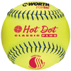 Worth Hot Dot Pro-Tac .52-275  USSSA Softball 12 Inch - One Dozen: UHD12SY