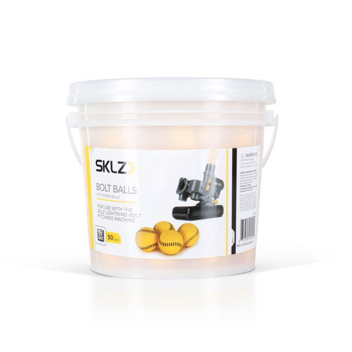 SKLZ Lightning Bolt Ball Bucket - 50 Balls - 4 Inch: BOLT00050