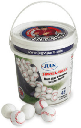 JUGS White Small Balls with Bucket 4 Dozen