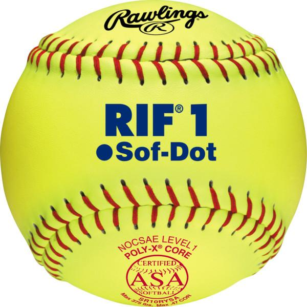 Rawlings RIF 10 Inch lLevel 1 ASA Fastpitch Softball: SR10RYSA