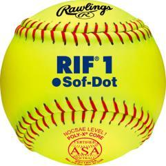 Rawlings R.I.F. ASA Fastpitch Softballs Level 1: SR11RYSA