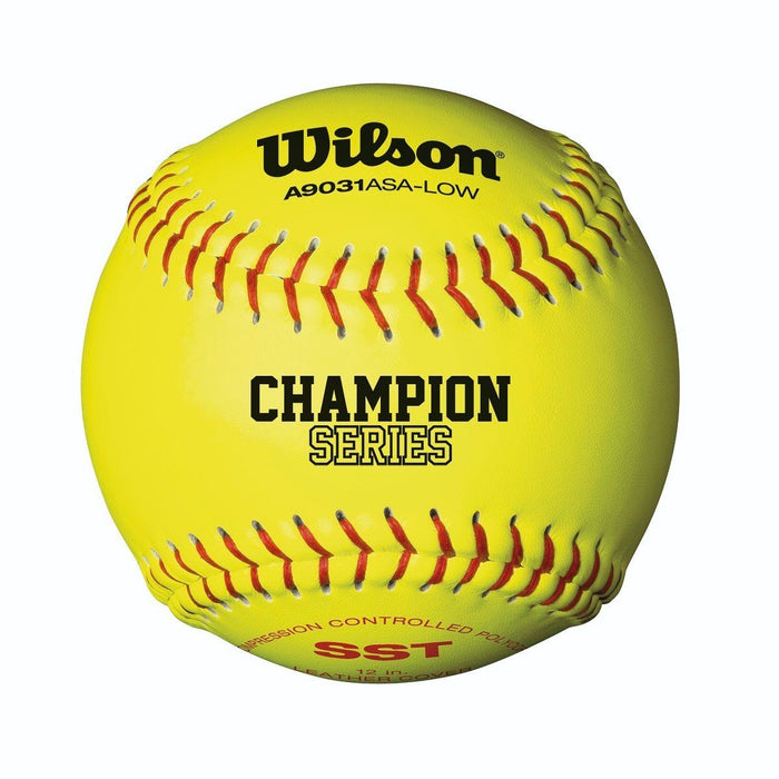 Wilson A9031B ASA Poly Core Fastpitch Softball 12 Inch
