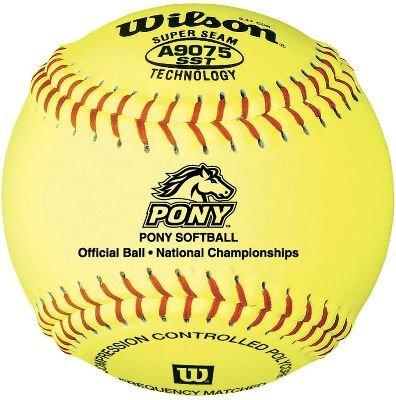 Wilson A9075BSST Pony League Fastpitch Softball 12 Inch