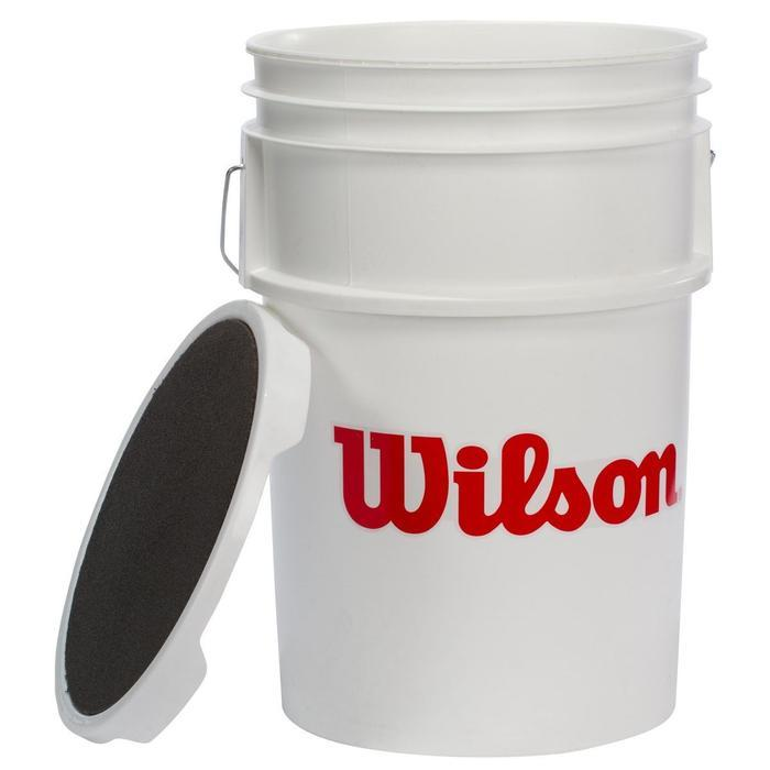Wilson Bucket Of Baseballs With 3 Dozen A1010 X Outs