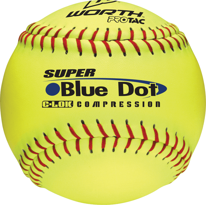Worth Super Blue Dot 12 inch .47-525 Slowpitch Softball