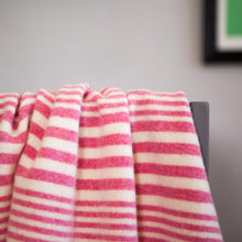 McGhee – Knitted Stripe Baby Girl Blanket – Pink