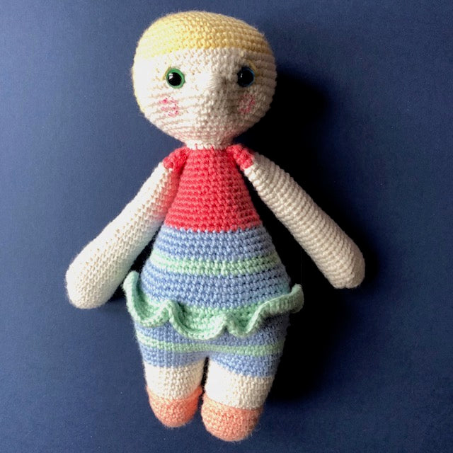 Bonnie McCuddles - Handmade Crochet Toy Doll