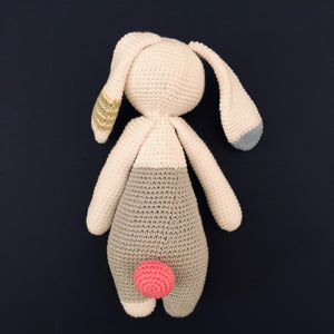 Rabbie McCuddles - Handmade Crochet Toy Bunny