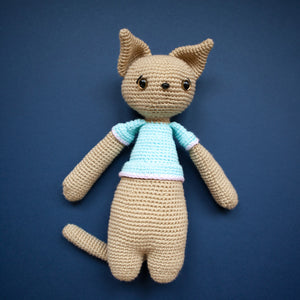 Kitty McCuddles - Handmade Crochet Toy Cat