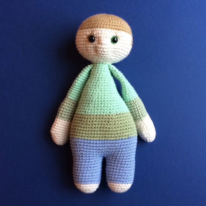 Woody McCuddles - Handmade Crochet Toy Doll