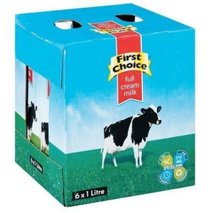 First Choice Long Life Full Cream Milk 1 L x 6
